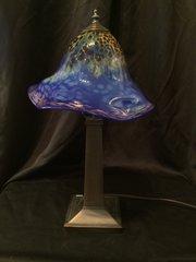 Blown Glass Lamp Deep Blue