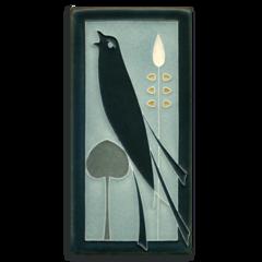 4x8 Songbird (Facing Right) - Grey Blue