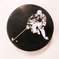 Hockey Puck Bottle Opener Hockey Player