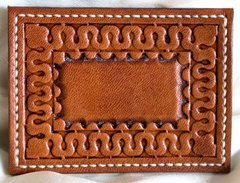 Leather Business Card Holder Scroll