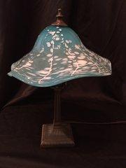 Blown Glass Lamp Light Turquoise