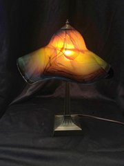 Blown Glass Lamp Ocean Blues