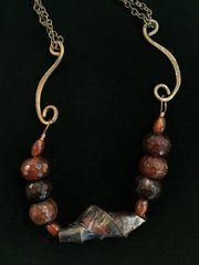 Copper and Brown Agate Necklace