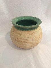 Swirl Ball Vase (Green)