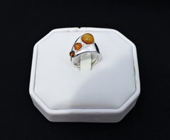 Triple Amber Ring in Sterling SIlver