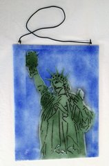 Statue of Liberty Glass Panel