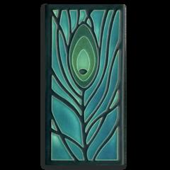 4x8 Peacock Feather - Dark Ocean
