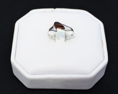 Small Amber Ring in Sterling Silver