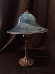 Blown Glass Lamp Blue