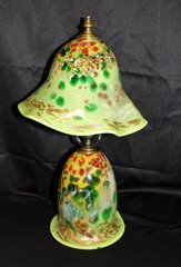 Blown Glass Lamp Green Multi Colored