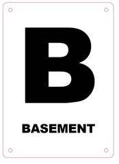 BASEMENT FLOOR SIGN - ALUMINIUM