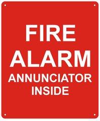 FIRE ALARM ANNUNCIATOR INSIDE SIGN (ALUMINUM SIGNS 10X12)