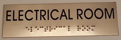 ELECTRICAL ROOM SIGN – STAINLESS STEEL (3X9.75)