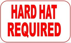HARD HAT REQUIRED ( Aluminum sign ) (12X15.5)