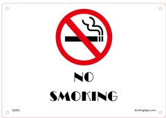 No Smoking SIGN (Aluminium)