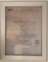 Food service establishment license Frame 8.5 x 11 ( Heavy Duty - Aluminum)