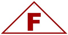 FLOOR TRUSS IDENTIFICATION SIGN- REFLECTIVE !!! (ALUMINUM 6x12 TRIANGLE)