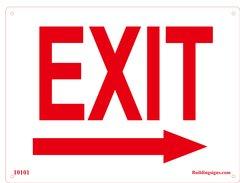 Exit Right Sign (Aluminum)