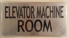 ELEVATOR MACHINE ROOM SIGN – BRUSHED ALUMINUM (6X11.75)