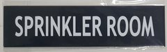 SPRINKLER ROOM SIGN- BLACK (ALUMINUM SIGNS 2X7.75)