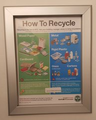 RECYCLES NOTICE FRAME 8.5 X 11 (HEAVY DUTY)