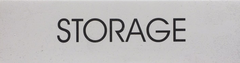 STORAGE SIGN – WHITE BACKGROUND