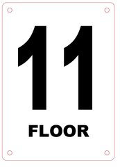 FLOOR NUMBER ELEVEN (11) SIGN - ALUMINIUM