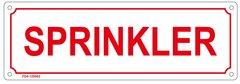 SPRINKLER SIGN (ALUMINUM SIGN SIZED 4X12)