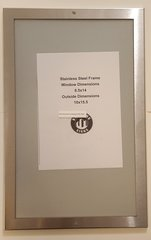 ELEVATOR CERTIFICATE FRAME STAINLESS STEEL (SIZE 8.5''x14'')