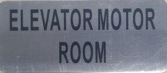 ELEVATOR MOTOR ROOM SIGN – BRUSHED ALUMINUM (ALUMINUM SIGNS 3.5X8)- The Mont Argent Line