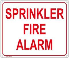 SPRINKLER FIRE ALARM SIGN (FIRE DEPARTMENT SIGN - FIRE DEPARTMENT SIGN - FIRE DEPARTMENT SIGN (ALUMINUM SIGN SIZED 10X12)