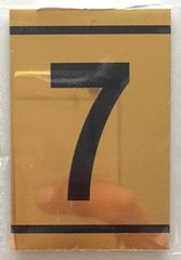 z-NUMBER SEVEN SIGN – 7 SIGN - GOLD ALUMINUM (2.25X1. 5)