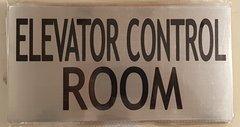 ELEVATOR CONTROL ROOM SIGN – BRUSHED ALUMINUM (6X11.75)