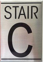 STAIR C SIGN – BRUSHED ALUMINUM