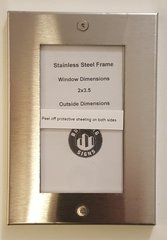 ELEVATOR CERTIFICATE FRAME STAINLESS STEEL (SIZE 2'' X 3.5'')