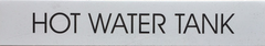 HOT WATER TANK SIGN - WHITE BACKGROUND