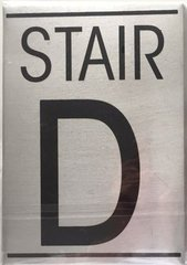 STAIR D SIGN – BRUSHED ALUMINUM