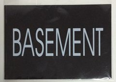 BASEMENT SIGN – BLACK (4X5.75)