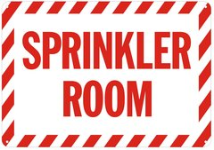 SPRINKLER ROOM SIGN- REFLECTIVE !!! (ALUMINUM SIGNS 7X10)