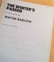 Music - Wayne Barlow - The Winter's Passed
