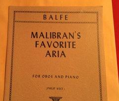 Music - Malibran's Favorite Aria