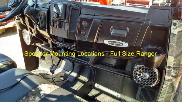 Polaris Ranger Full Size Dash Mounted Audio Radio Kit