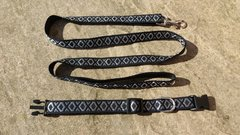 Black and Silver Collar and Lead Set