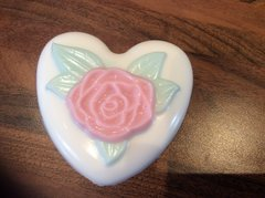 Heart Shaped Rose Soap