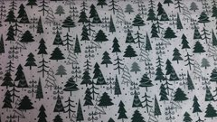 White with Green Christmas Trees