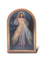 Divine Mercy Single Arched Standing Plaque