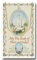 Enameled Gold Embossed Our Lady of Fatima Medal