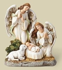 Angels and Lamb with Jesus