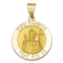 14KT Pope Francis 7/8 inch