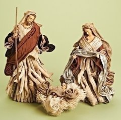 Holy Family in driftwood